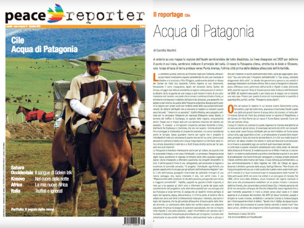 Acqua di Patagonia Camilla Martini per Peacereporter Dicembre 2010 #1 Tearsheets