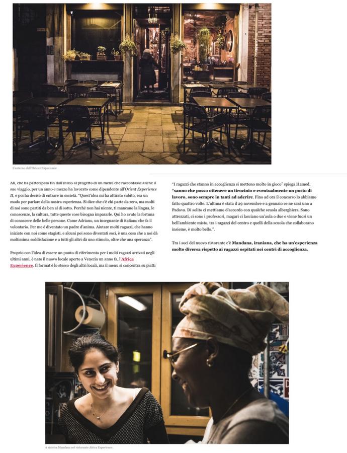 Come un rifugiato afghano è diventato i...più interessante di Venezia - Fotografie di Camilla Martini Lestraniere per MUNCHIES Testo di Marco De Vidi
