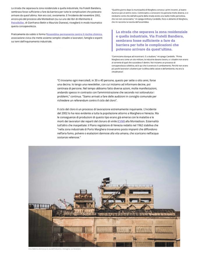 Quando a Marghera si è rischiata una strage chimica - Testo di Marco De Vidi Fotografie di Camilla Martini | Lestraniere per Motherboard