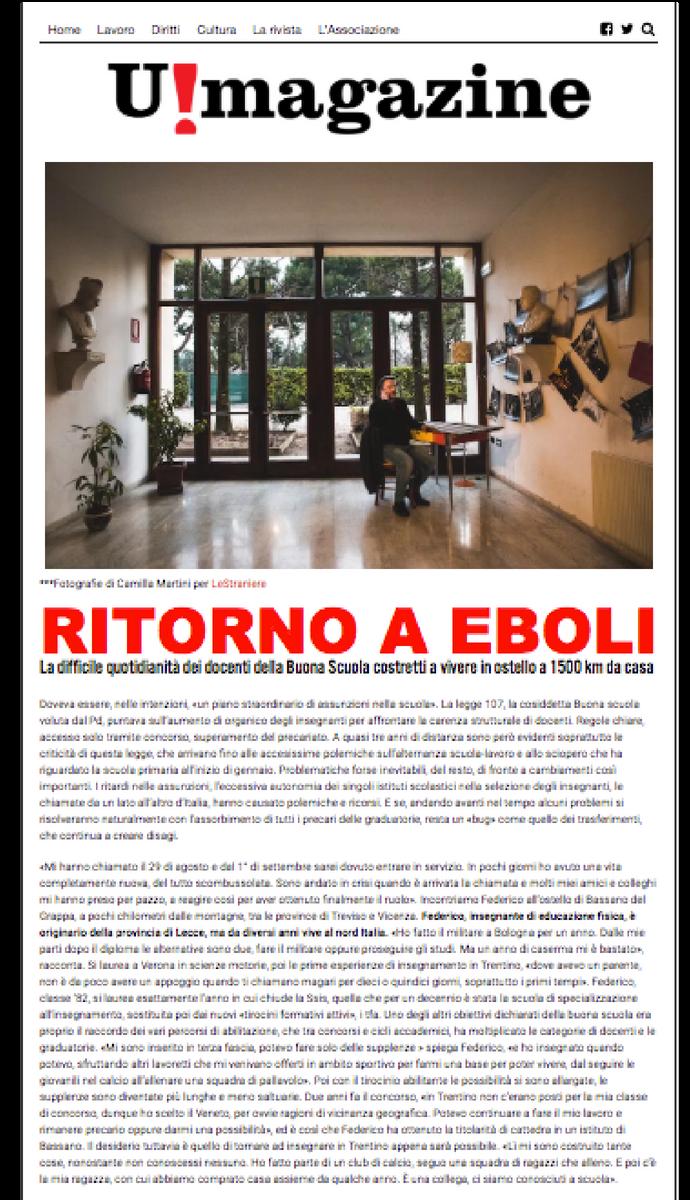 Ritorno a Eboli Fotografie Camilla Martini su U!Magazine nr.3