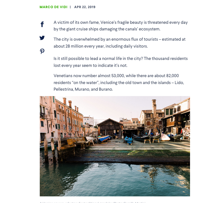 Tearsheets _Domain Venice is one of the world's most popular cities, but can Venetians call it home? _ Photographs by Camilla Martini-2
