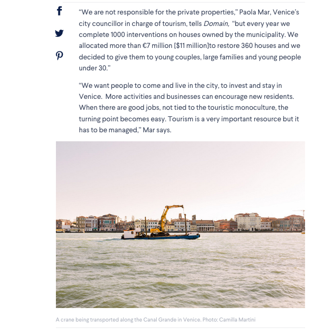 Tearsheets _Domain Venice is one of the world's most popular cities, but can Venetians call it home? _ Photographs by Camilla Martini-6