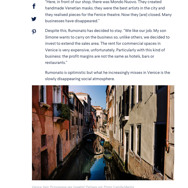 Tearsheets _Domain Venice is one of the world's most popular cities, but can Venetians call it home? _ Photographs by Camilla Martini-8