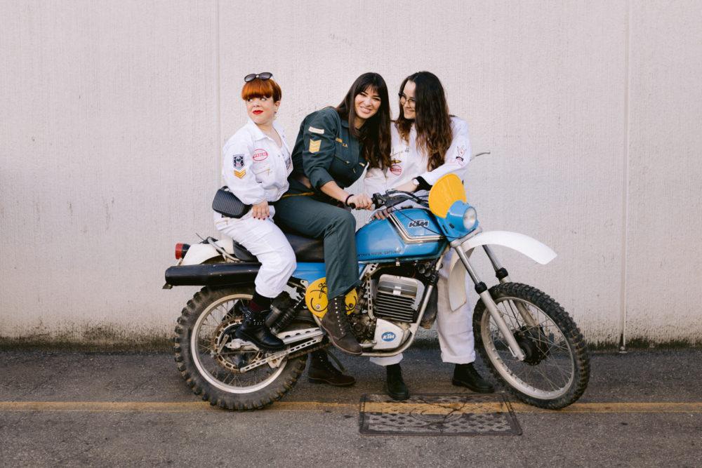 Domitilla Quadrelli photographed by Camilla Martini for Culture Trip women motorbikes